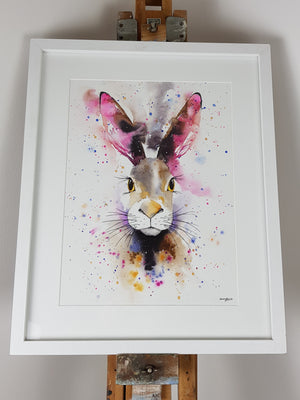 "Hare Watercolour 'Velvetine' - 16.5"" x 12"" #3067"
