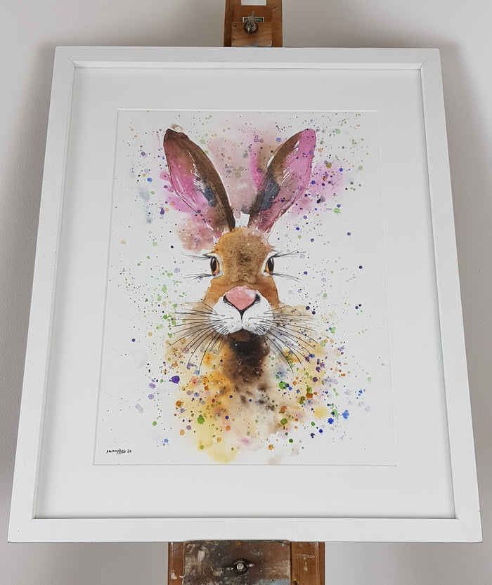 "Hare Watercolour 'Daisy' - 16.5"" x 12"" #3103"