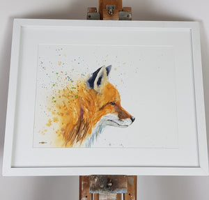 "Fox Watercolour -  16.5"" x 12"" #3136"