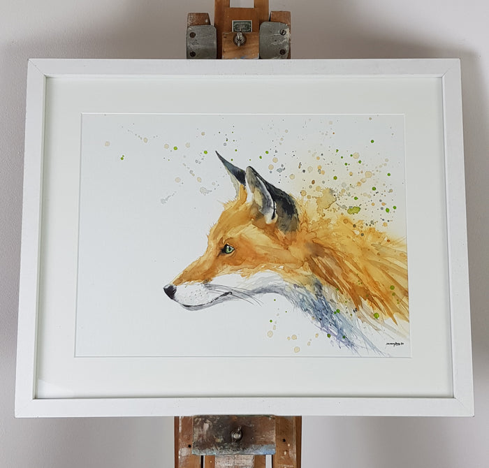 "Fox Watercolour - 'Rusty' 17"" x 12"" #3152"