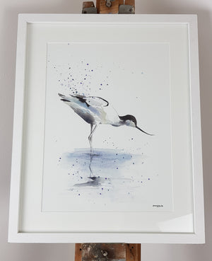 "Avocet Watercolour - 'Tranquility' 16.5"" x 12"" #3138"