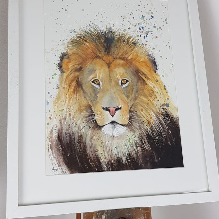 "Lion Watercolour - 'Tobias' 16.5"" x 12"" #3111"