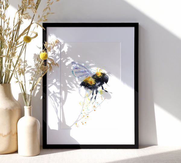 Bee - A4/A3 Art Print - SkinnyDaz Art, Design & Illustration
