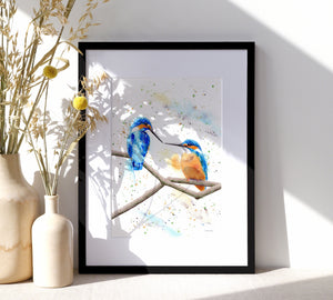 Kingfisher Print - SkinnyDaz Art, Design & Illustration