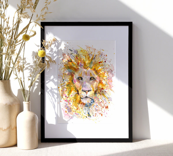 Lion -  A4/A3 Art Print - SkinnyDaz Art, Design & Illustration