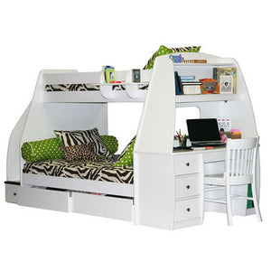 Bunk Bed With Study - Classic Designs
