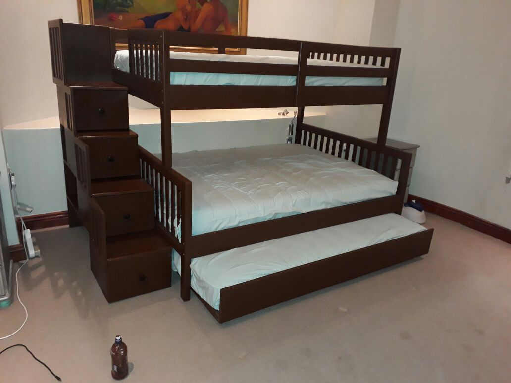 Other Furniture Morgan Pine Bunk Bed Three Quarter Over Double