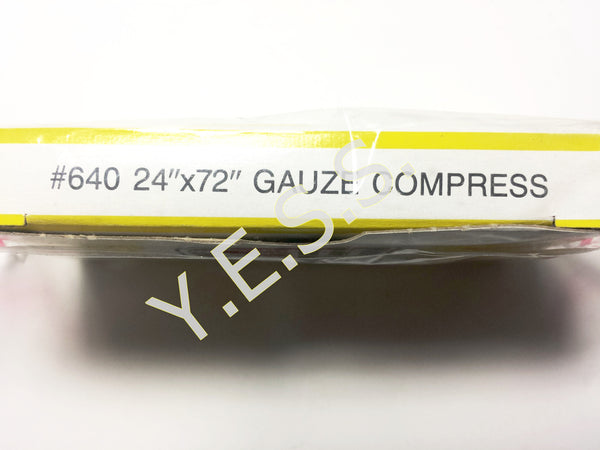 "640 Gauze Compress 24"" x 72"" - Yost Equipment Sales"
