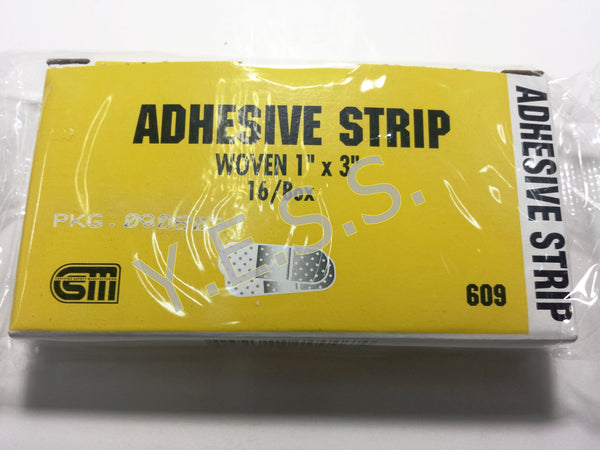 "609 Woven Adhesive Bandage 1"" x 3"" - Yost Equipment Sales"