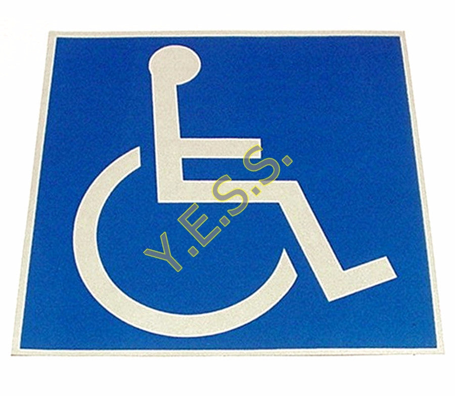 "39 Handicap Wheelchair Logo 4"" x 4"" Decal - Yost Equipment Sales"