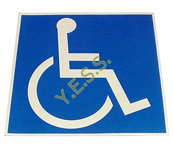 "38 Handicap Wheelchair Logo 6"" x 6"" Decal - Yost Equipment Sales"