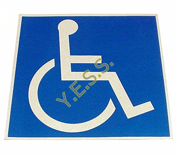 "228R Handicap Wheelchair Logo 8"" x 8"" Decal - Yost Equipment Sales"