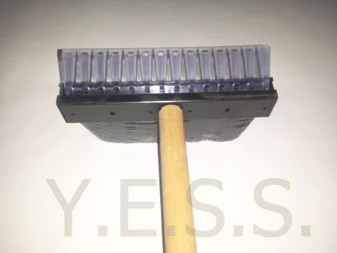 "BB36 Ice Scraper 36"" H.D. With Brush - Yost Equipment Sales"