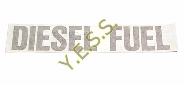 "44B ""DIESEL FUEL"" Decal - Yost Equipment Sales"