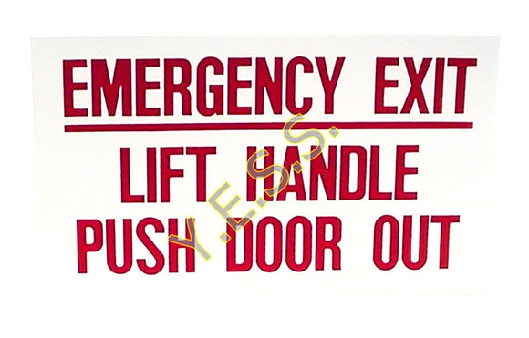 140 Emergency Exit Instructions Decal - Yost Equipment Sales