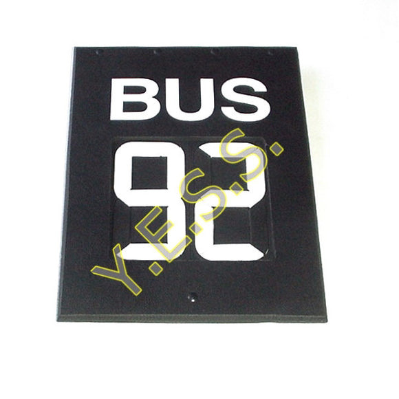 RC-H2B Bus Number Sign - Yost Equipment Sales