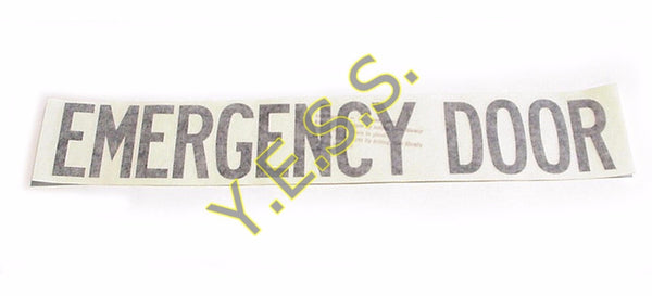 63 Emergency Door Decal - Yost Equipment Sales