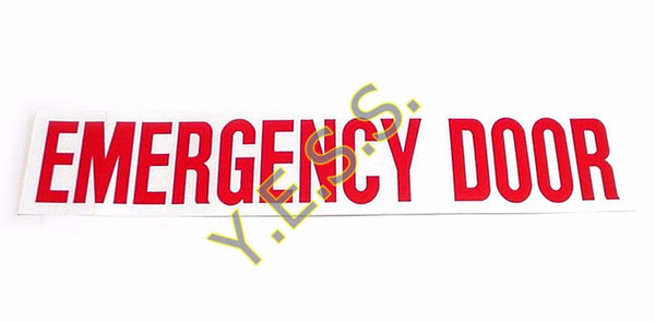 "2 ""EMERGENCY DOOR"" Decal - Yost Equipment Sales"