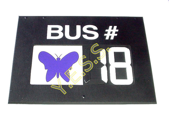 RC-H4BA2 Bus Number With Animal Sign - Yost Equipment Sales