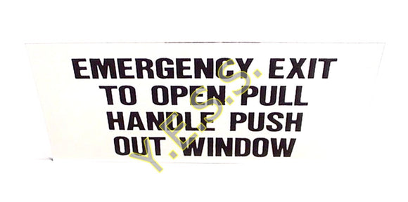 196 Emergency Exit Instructions Decal - Yost Equipment Sales