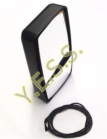 "130-20 Left 8"" x 15"" Heated Rear View Mirror - Yost Equipment Sales"