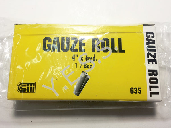 "635 Gauze Roll 4"" x 6 Yards - Yost Equipment Sales"