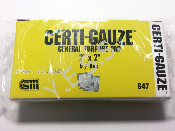 "647 Gauze Compress 2"" x 2"" - Yost Equipment Sales"