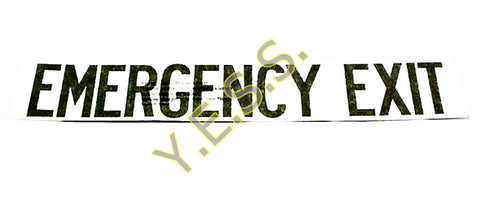62 Emergency Exit Decal - Yost Equipment Sales