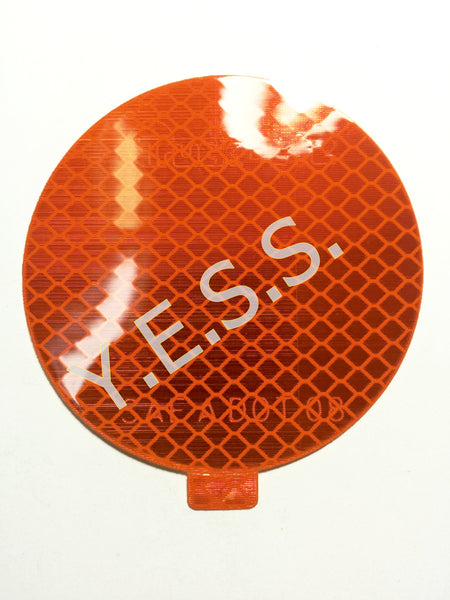 "98175Y3 Amber 3"" Reflector Decal - Yost Equipment Sales"