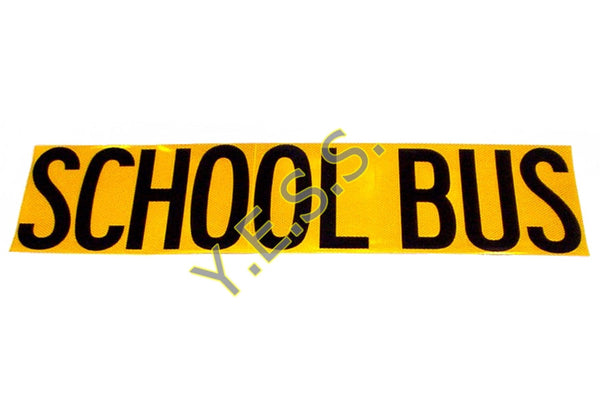 "222R ""SCHOOL BUS"" High Intensity Decal - Yost Equipment Sales"