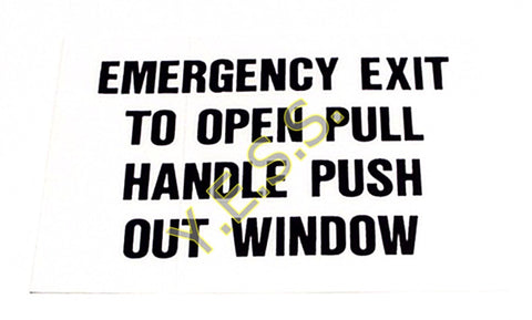 115A Emergency Exit Instructions Decal - Yost Equipment Sales