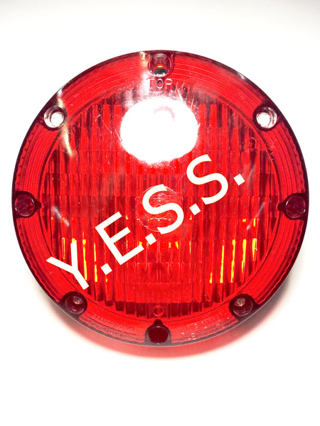 "2000-1 Red 7"" Overhead Warning Lamp - Yost Equipment Sales"