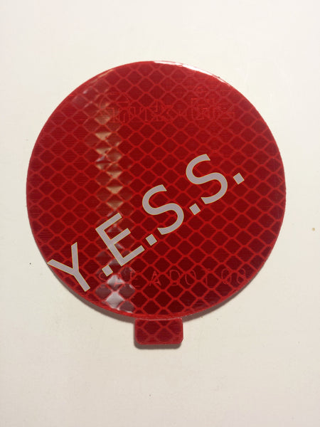 "98175R3 Red 3"" Reflector Decal - Yost Equipment Sales"
