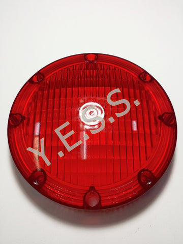 "2001-1 Red 7"" Lens For Overhead Warning Lamp - Yost Equipment Sales"