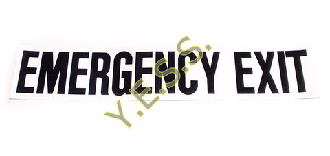 "5 ""EMERGENCY EXIT"" Decal - Yost Equipment Sales"