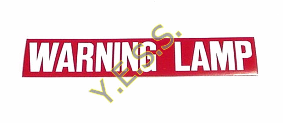 "41 ""WARNING LAMP"" Decal - Yost Equipment Sales"