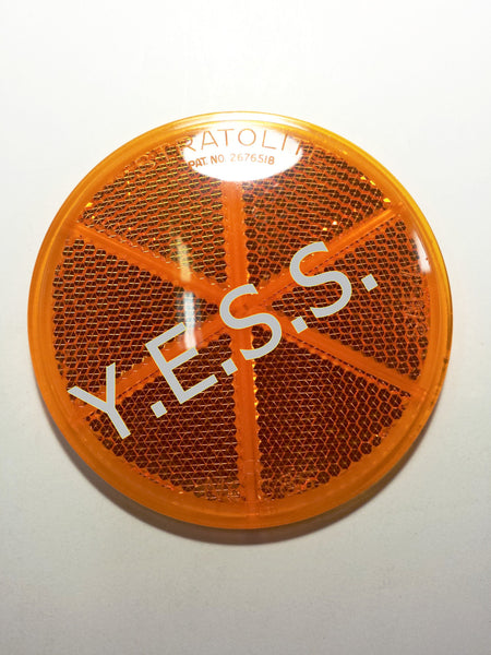 "9186-038S Amber 3"" Reflector - Yost Equipment Sales"