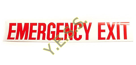 "8 ""EMERGENCY EXIT"" Decal"