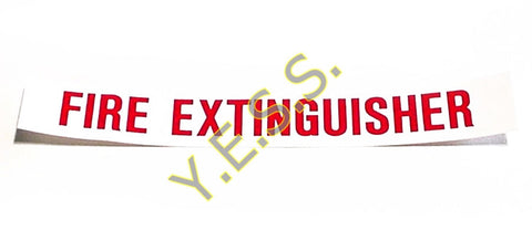 "143 ""FIRE EXTINGUISHER"" Decal - Yost Equipment Sales"