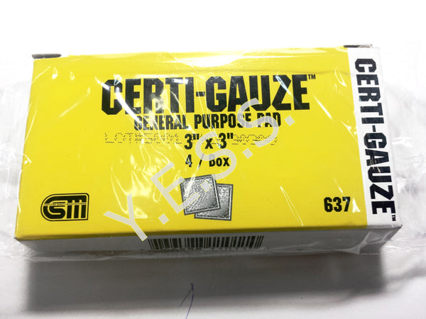 "637 Gauze Compress 3"" x 3"" - Yost Equipment Sales"