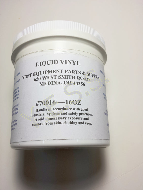 101 Liquid Vinyl Seat Adhesive 16 oz. - Yost Equipment Sales