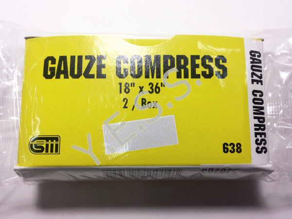 "638 Gauze Compress 18"" x 36"" - Yost Equipment Sales"