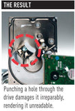 Destroyit Strip Cut,Destroyit Cross Cut - 0101 HDP Hard Drive Punch