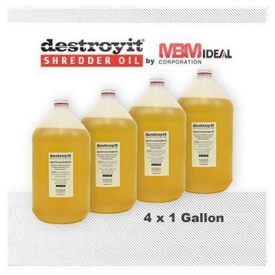 Shredder Supplies - Destroyit Paper Shredder Oil (4 Pack Of 1 Gallon Jugs)