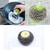Stainless Steel Scrubber with Sponge