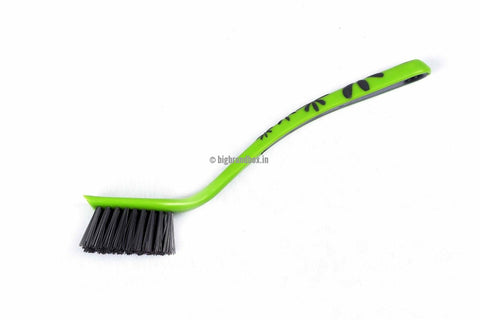 Rectangular Kitchen Brush Rubber Grip Green - BigBrandBox