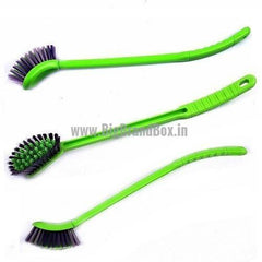 Toilet Cleaning Brush With Curved Long Handle