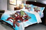 Marvel Cotton Avenger Double Bed Bedsheet with 2 Pillow Cover Set