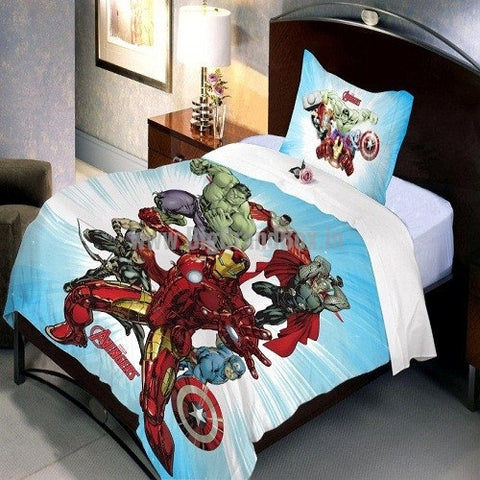 Marvel Avenger Bedsheet Pillow Cover Set