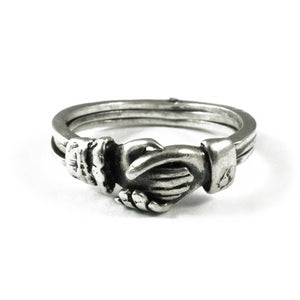 3 piece Silver Claddagh Ring